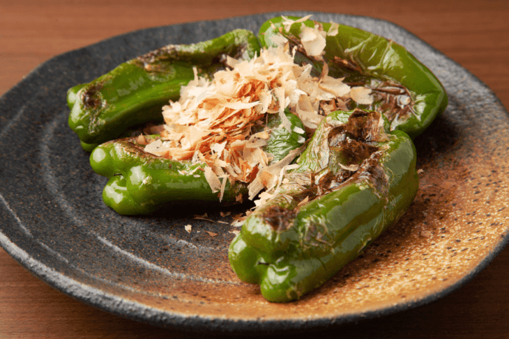 Bell Pepper and Bonito Flakes
